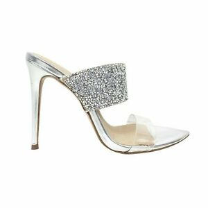 Kurt Geiger Stiletto High Heels Heeled Sandals Silver Shoes Sizes  3,4,5,6,7,8