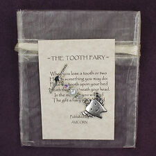 TOOTH FAIRY CHARM Amulet Child Children's Rhyme Faerie Angel Wings Star Kids