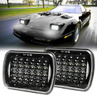 For Chevrolet Corvette 1984-1996 Pair CREE 5X7 7x6 LED Headlights Hi/Lo With DRL  for sale