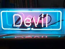 New Devil Neon Light Sign Lamp Beer Pub Acrylic Box Decor Artwork Real Glass