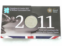 2011 Royal Mint London 2012 Olympic Games Countdown BU £5 Five Pound Coin Pack