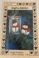 Sew Easy Stuff-n-Stitches Pudgy Snowman Doll and Wallhanging