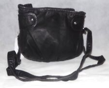 Nice Claire's Accessories Black Leather Style / Affect Handbag New With Tag (AM)