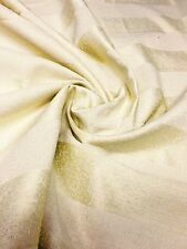 100% COTTON DAMASK CURTAIN UPHOLSTERY FABRIC 3.2 METRES (1.5+1.7)