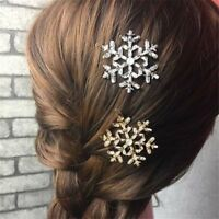 Bridal Decor Hairpins Hair Pin Snowflake Hair Clips Crystal Rhinestone