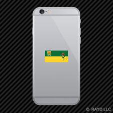 Saskatchewan Flag Cell Phone Sticker Mobile Die Cut Canada sk province