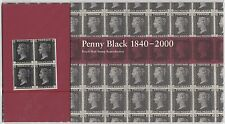 2000 Penny Black - Facsimile Reproduction Stamp Presentation Pack PPR1