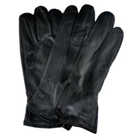 Men's Genuine Leather Gloves With Zipper GM160 - Large