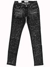 """SINCE JANE """"Low Rise Skinny Leg"""" stretch grey spot jeans 8x31 NWT!"""