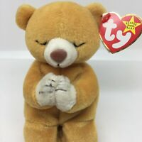 Ty Beanie Baby Hope Praying Bear With 3 Tag Errors Rare Retired Collectible