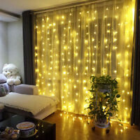 600LED Connectable Fairy String Icicle Curtain Light Wedding Party Xmas Light 6M