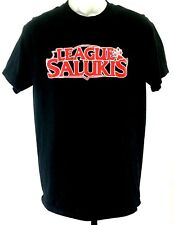 Salukis T Shirt Medium Unisex Gildan Black with red letters 'League of Salukis'
