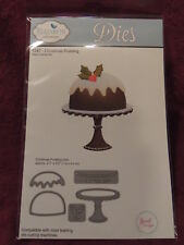 NEW Elizabeth Crafts Designs Steel Cutting Die Set 1247 CHRISTMAS PUDDING Cake
