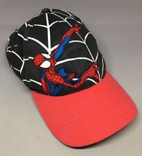 Spiderman Youth Cap Red Black Web Adjustable  Cotton Spider-Man Marvel Comics
