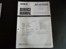 ORIGINALI service manual AIWA ad-6wx505