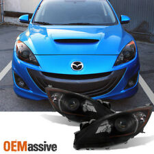 Fit [Halogen Type - Black Smoked] 2010-2013 Mazda 3 Projector Headlights