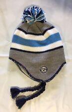 Pittsburgh Penguins Knit Beanie Toque Winter Hat Skull Cap NHL New Blue Ear Flap