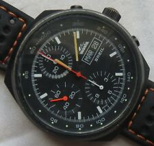 Breil Manta Automatic Chronograph mens wristwatch black case cal. Valjoux 7750
