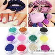 Nail Art 12 Box Mixed Colors Caviar Nails Manicures Pedicures Decal tiny Beads