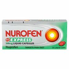 Nurofen Express Liquid Capsules Ibuprofen 200mg Pain Relief - MAX 2 Packs/Order