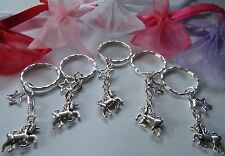 5 UNICORN KEYRINGS PARTY BAG FILLERS BAG CHARMS GIFTS FAVORS PRIZES IN GIFT BAGS