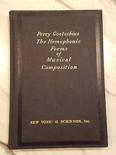 1926-Homophonic-Forms-of-Musical-Composition-HC-Book-by-Percy-Goetschius