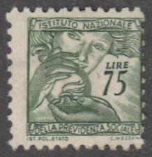 Italy Social Insurance Revenue unlisted like Barefoot #650 used 75L Lamp 1952