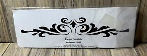 The Scrap Pack Large Flourish Rubber Stamp Scrapbooking and Crafting NEW