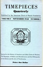 Timepieces Quarterly Volume 1 Number 1 1948 American Clock & Watch Foundation PB