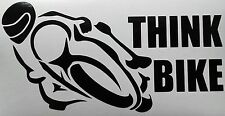 THINK BIKE DECAL SIGN STICKER 159MM X 83MM