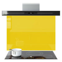 Kitchen Splashback Panels Shades Of Yellow Toughened Glass Any Size & Colour New