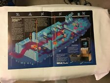 FACTORY ORIGINAL 1982 SEGA ZAXXON FLYER NEW OLD STOCK