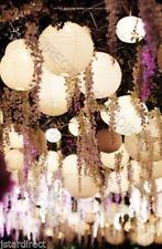 "USA 12x 12"" White Round Chinese Paper Lantern For Wedding led hanging Decor"