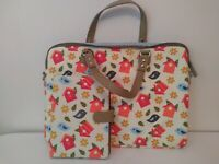 Cute Laptop/Documents/School Bag. Ditsy, matching tablet cover, cute, vibrant.