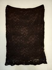 Eileen Fisher Noir Crochet Lace Wiggle Jupe S très bon état