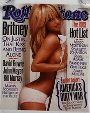 Britney Spears Autograph JSA 14.5 x 12 Signed Photo Rolling Stone