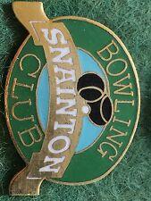 Vintage Enamel Bowling Bowls Club Badge Pin Snainton