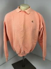 VTG 80s Apple Computers Mac Stitch Rainbow waffle textured collar Sweatshirt L