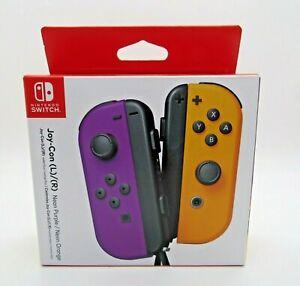 Nintendo Switch Joy-Con Controllers L/R Neon Purple - Neon Orange