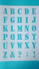 Bastel-Schablonen von Nummern & Buchstaben