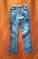 Jeans donna a zampa e vita alta, blu scuro, marca x cape, taglia 40