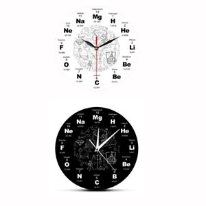 Periodic Table of Elements Wall Art Chemical Symbols Wall Clock Educationa U5V7