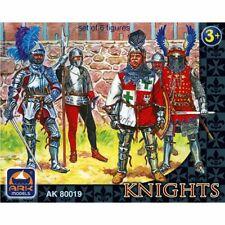 Ark Models AK 80019 Knights. Set of 6 figures (65-mm)