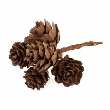 Small Natural Pine Cones On Wire x 36