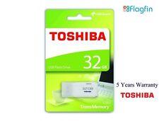 32GB Toshiba TransMemory USB 2.0 Flash Drive Memory Stick Pen Drive - White