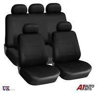 Audi A3 A4 A6 A8 Q3 Q5 Q7 Seat Covers Black Light Fabric Full 9 Pcs Set