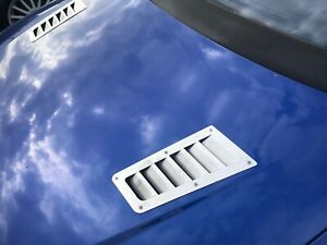 *NEW* Hood stainless steel Focus RS style bonnet vents universal - lot of 2 pcs.
