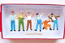Preiser 1:50 scale Six Truckers / Truck Driver Figures ( Various Poses ) 68202