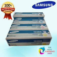 New & Samsung CLX-Y8380A CLX-M8380A CLX-C8380A  Full Toner Set CMY  ONLY
