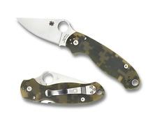 Spyderco Para 3 Knife Camo G10 Handle Plain CPM S30V Stainless Edge C223GPCMO